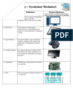 btt101 - digital literacy vocabulary worksheet