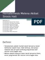 FT 3 PAK AL KLP 10 KLS B Hematemesis Melena Akibat Sirosis Hati