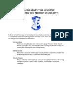 raa philosophy   mission statement