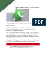 5 Nuevas Funciones de WhatsApp Que Ya Puedes Probar