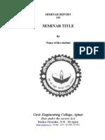 Seminar Report Format