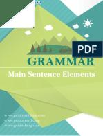Main Sentence Elements Menurut Grammar Bahasa Inggris
