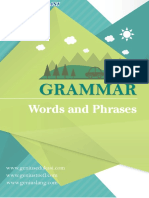 Words and Phrases Menurut Grammar Bahasa Inggris