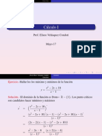 calculo derivada max y min