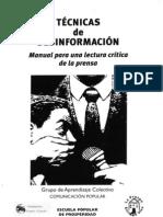 TÉCNICAS DE DESINFORMACIÓN - Manual para una lectura crítica de la prensa