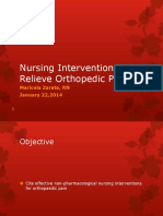 M Zarate Nursing Interventions Ortho Pain