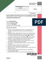 Matura 2016 - matematyka - poziom rozszerzony - arkusz maturalny (www.studiowac.pl)