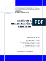 Diseño de La Organizacion de Un Proyecto