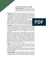 Características Metodología Paulo Freire