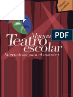 Manual de Teatro Escolar Alternativas Para El Maestro de Padin W.