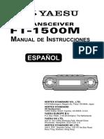 manual de instrucciones yaesu Ft 1500m Spanish