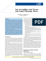 Investigations on Capillary and Viscous Displacement Under Ultrasonic Waves