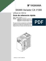 YASKAWA Variador CA V1000 Guía de referencia rápida