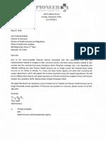 Closing Notification Ico Pioneer Community Hospital of Scott