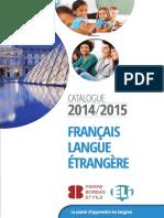 Catalogue ELI 2014-2015