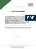 Certificado de a y n