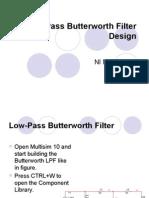 Low-Pass Butterworth Filter Design
