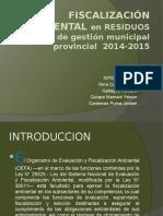 Fiscalización Ambiental en Residuos Solidos de Gestión Municipal