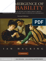 The Emergence of Probability a Philosophical Study by Ian Hacking