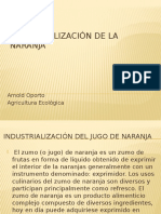Industrialización de La Naranja