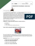 Questões Para o Simulado Inglês 5 Série Matutino Turmas a b c d