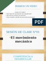 Sesion de Clase Sobre El Movimientosus Elementos y Clasificación