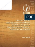 CNDH Recomendaciones en Trámite