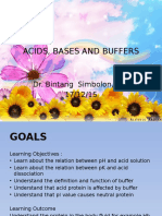 Acids, Bases and Buffers New