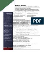 Resume_Professional Development Manager
