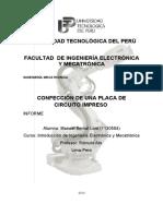Desarrollo de placa impresa PCB casero