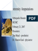 Lower Extremity Amputations