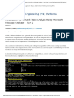 Network Trace Analysis Using Microsoft Message Analyzer— Part 2