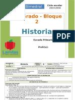 Plan 6to Grado - Bloque 2 Historia