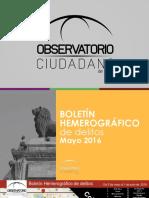 Boletín Hemerográfico Mayo 2016