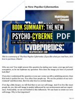 Book Summary_ the New Psycho-Cybernetics