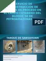 Servicio de Reconstrucción de Tanques Informe Fotografico 29 Al 4 de Abril