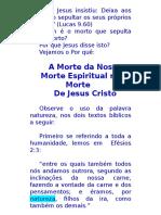 A Morte Da Nossa Morte Espiritual Na Morte de Cristo