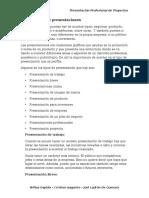 Clasificacion de Presentaciones - PPP