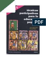 Tecnicas Participativas Para La Educacion Popular Tomo II