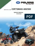 2005 Polaris Sportsman 400 500 Service Manual NoPW