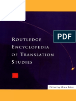 Mona Baker - Routledge Encyclopedia of Translation Studies