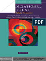 Unravelling the Complexities of Trust and Culture - interesting