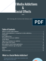 social media addictions   social effects