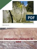 Aula Intemperismo e Solos Geologia Geral 2015