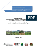 Economic Cost of Conflict in the Agriculture Sector of Selected Regions in Mindanao, Philippines