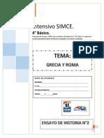 TEST HISTORIA SIMCE 4° BASICO N°2 Grecia y Roma
