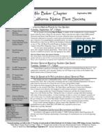 Milo Baker Chapter Newsletter, September 2006 ~ California Native Plant Society