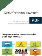 Infant Feeding Practice-The Summary