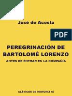 Peregrinacion de Bartolomé Loreenzo