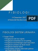 Fisiologi Pembentukan Urine